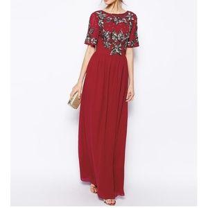 NWT ASOS Formal Sequin Detail Maxi Dress